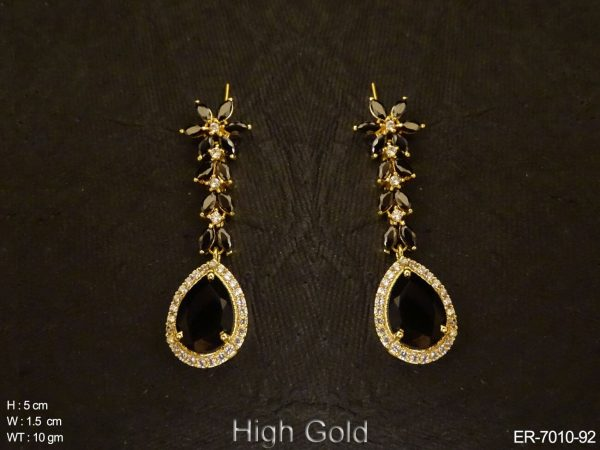 Paan Style Leafy AD Earrings