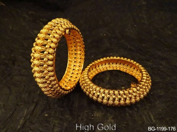 Multi Paan shape Broad Bangles
