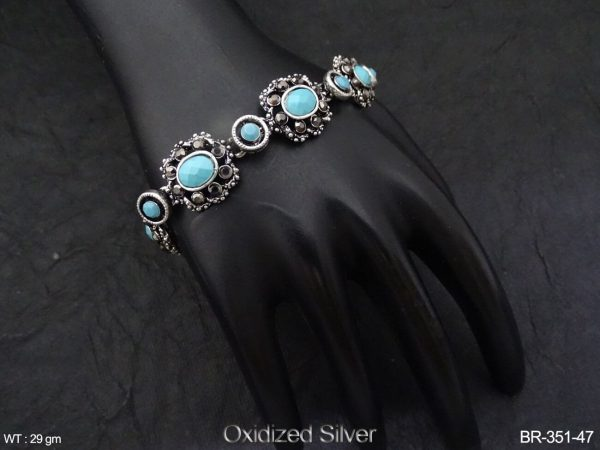 Oval Stone Designer Antique Bracelet