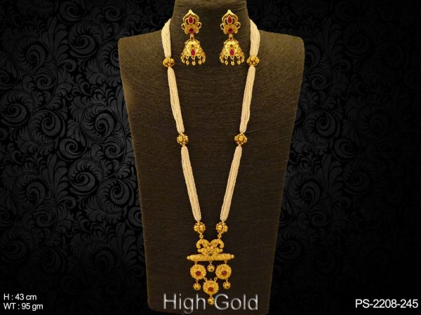 Long Designer Rounded Pendant Set