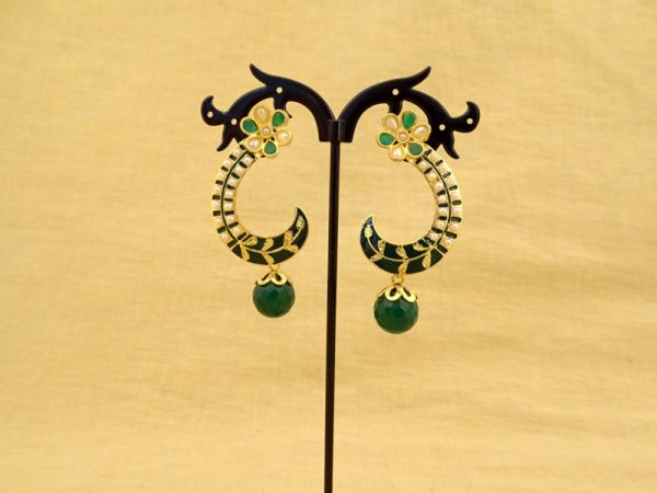 kaanful style moti drop antique earrings