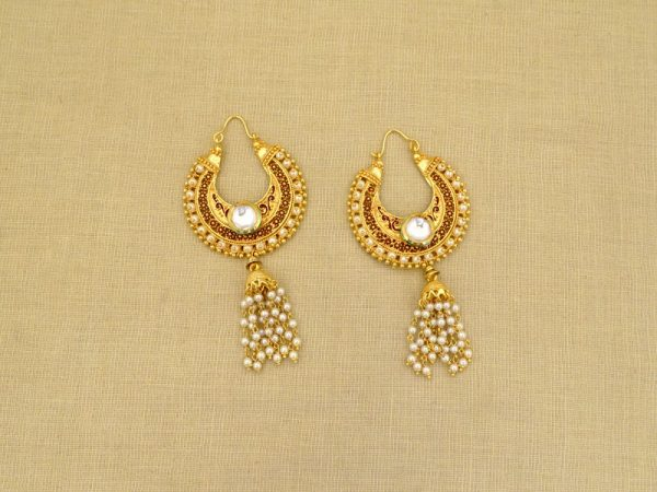 chand bali style party wear antique earrings