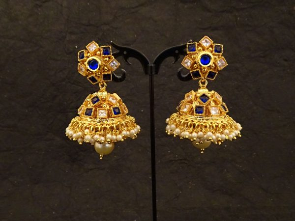 square stone antique earrings