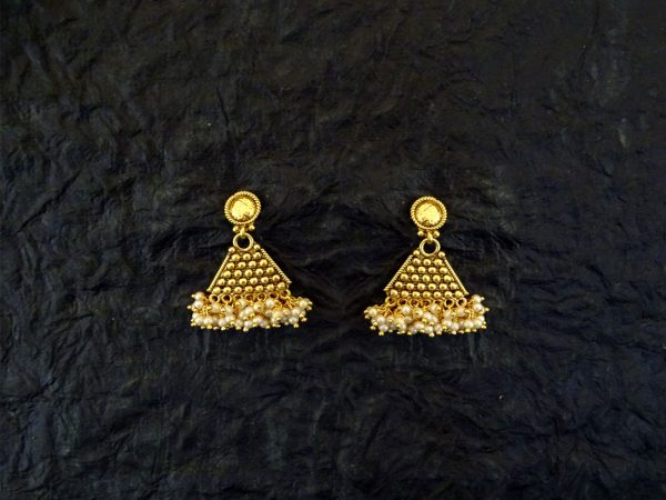 Triangular Shaped Antique Earrings Set