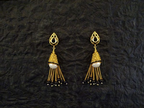 Paan Conical Shape Antique Earrings