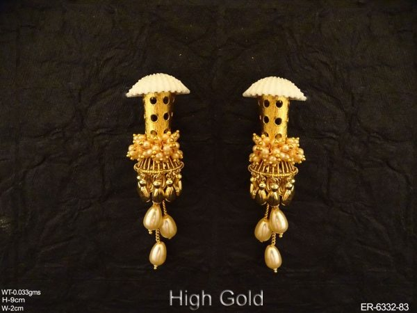 Mashroom Clustered Pearls Antique Earring