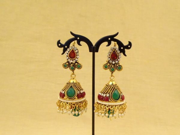 jaipur length delicate antique earrings