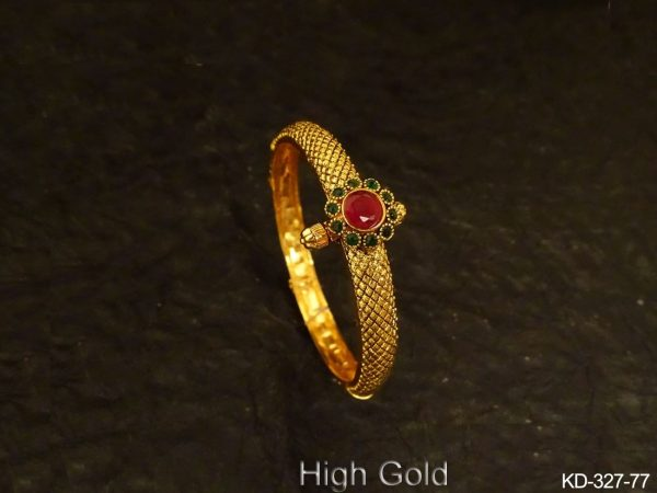 Stone Shape Flower Antique Kada