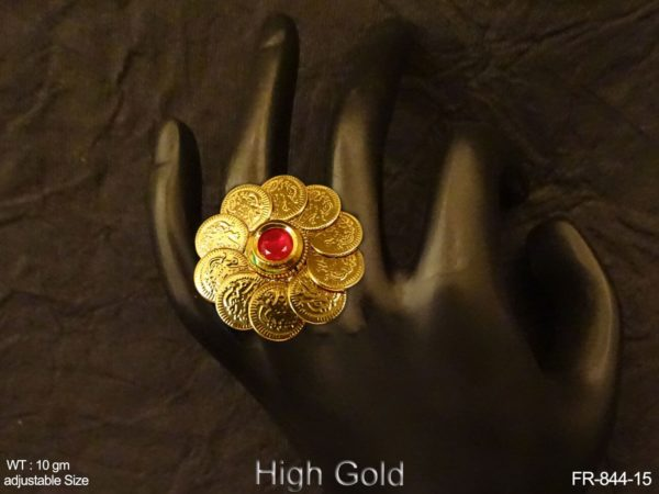 South Indian Coin Finger Ring