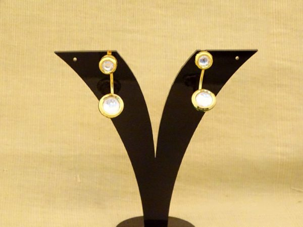white stone newest fashion kundan earrings