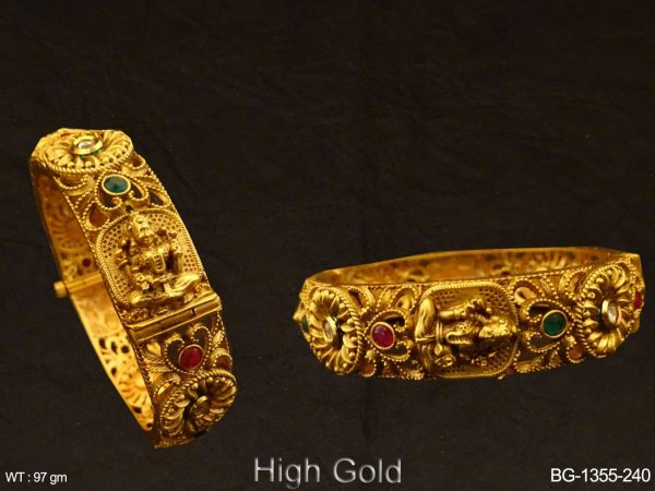 South Temple ruby green Bangle