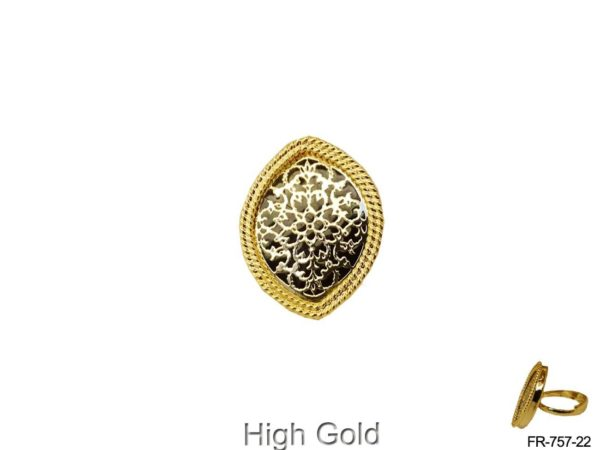 Flower Textured Style Thewa Finger Ring