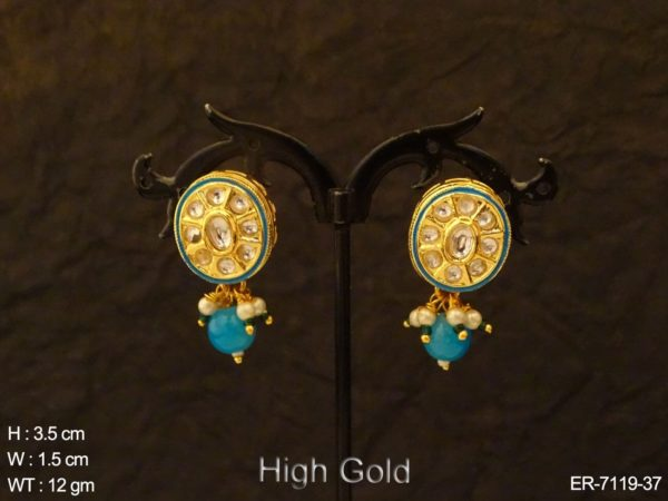 Oval Style Designed Antique Earrings