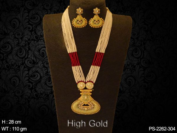 Long Designer Triangular Pendant Set