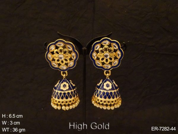 Jhumki Flower Hold Style Earrings