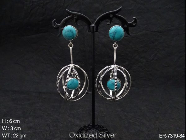 Twisted Ring Style Fusion Earrings