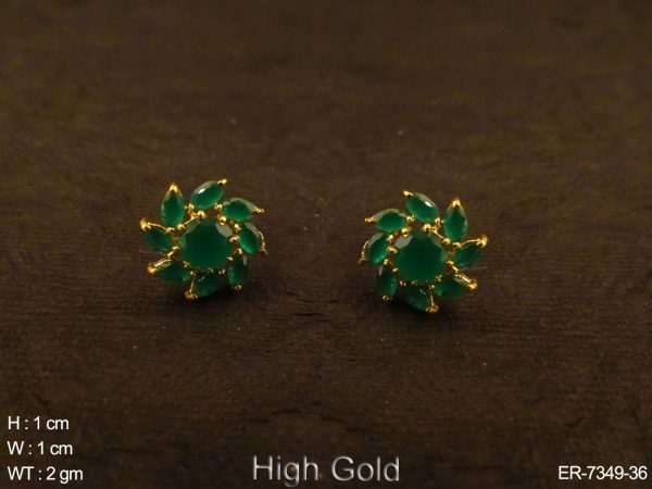 Flower marquise AD Earring