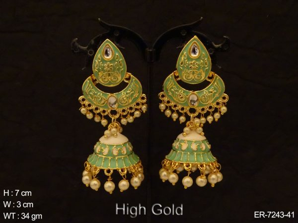 Paan Shape Bell Fall Antique Earring