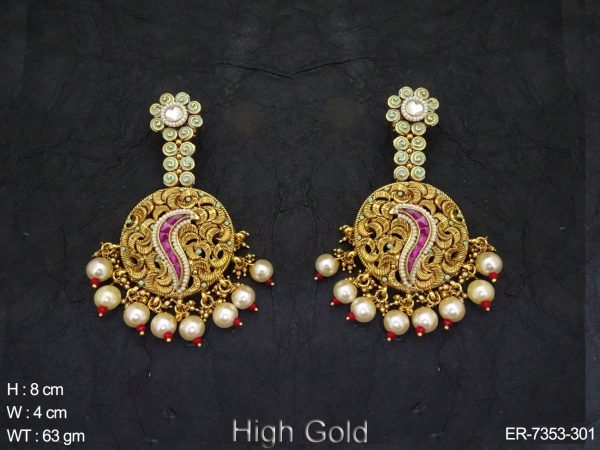 Curve rodo Antique Earring