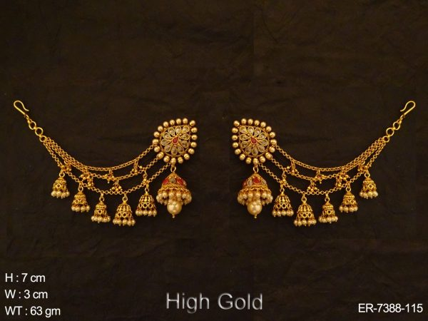 Kanchain jhumka Antique Earring