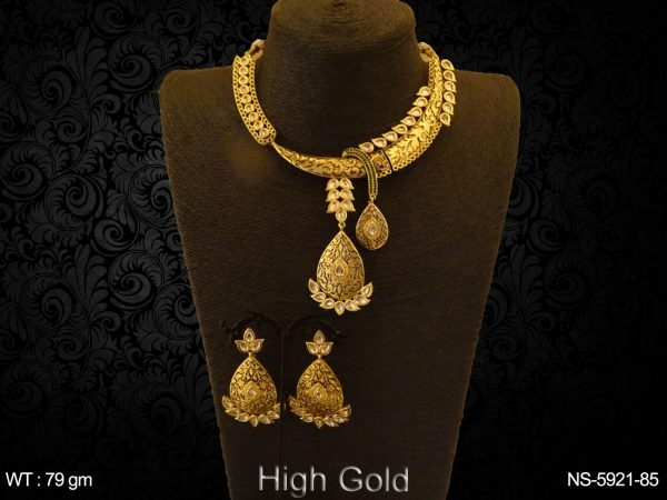 Paan meena design antique necklace