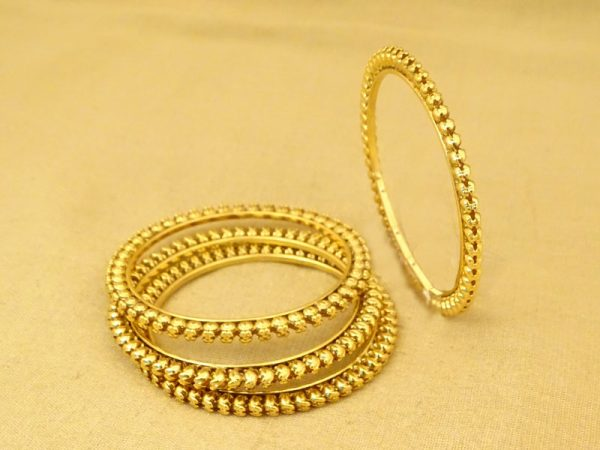 oval beaded delicate antique bangles