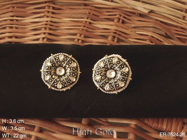 Meena delicate paan stone tops antique earring