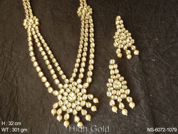 Royal look multilayered kundan long necklace