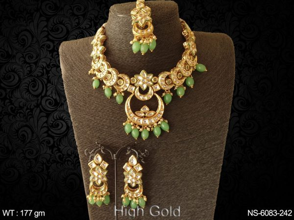 Kundan type chand shape necklace
