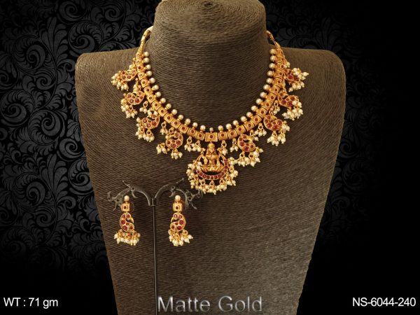 Laxmi mata peacock Temple necklace