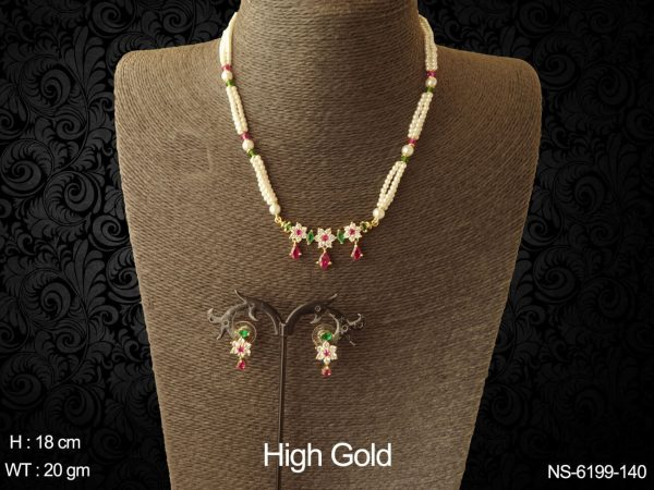 Traditional tanmani AD necklace