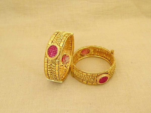 sunflower round broad bollywood antique bangles