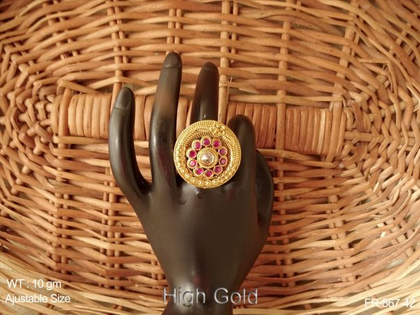Lct ruby stone antique finger ring