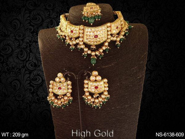 Kundan heavy bollywood beads necklace