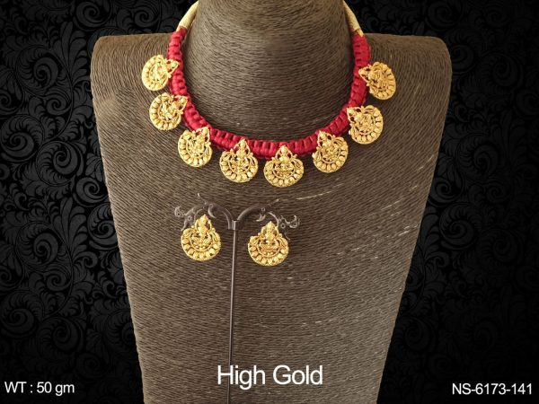 Mata laxmi coloring thread antique necklace