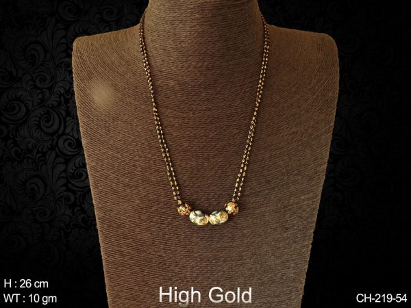Beads long delicate antique mangalsutra