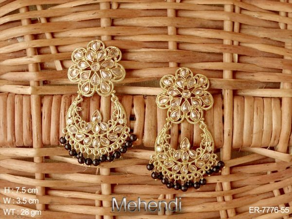 Lct paan delicate different design polki earring