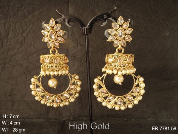 Different type design bollywood polki earring