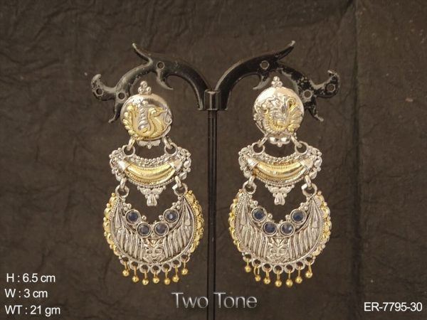 Bollywood Western Jhumki Earring with Two Tone Plating