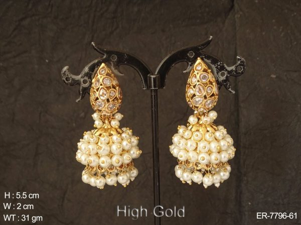 Clustered pearl exclusive delicate antique earring