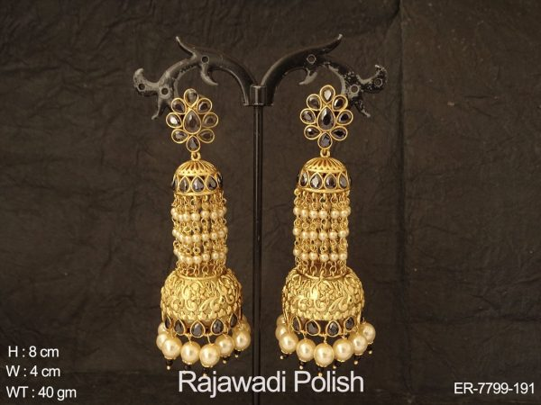 Jhumar jhumka fancy heavy antique earring
