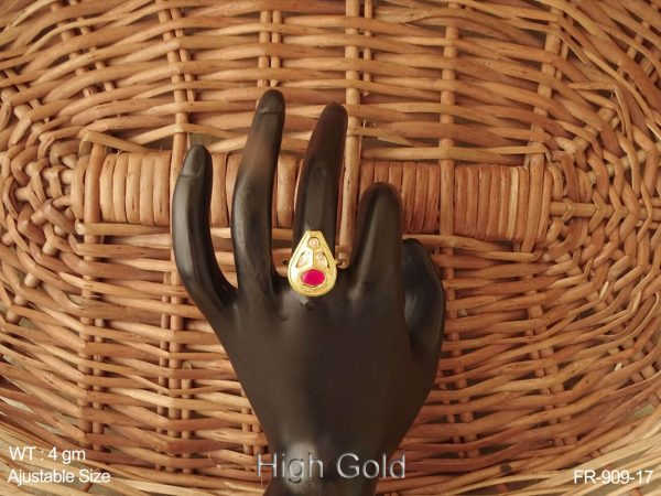 Different design small delicate ruby green antique finger ring