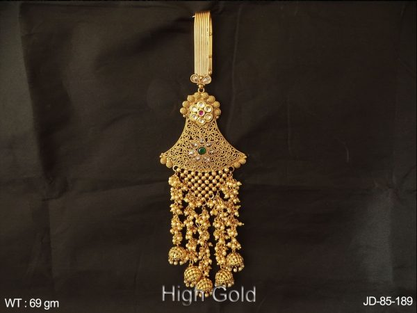 Clustered pearl jhumka sarees wear antique judda