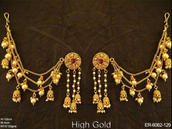 Spiral Style Multi Jhumki Earrings