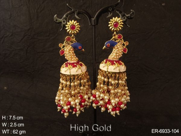 Peacock Style Gogri Style Earrings