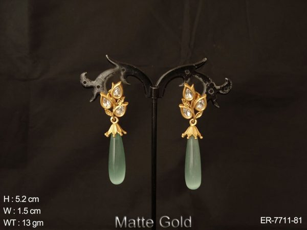 Coloring drop matta polish fusion earring