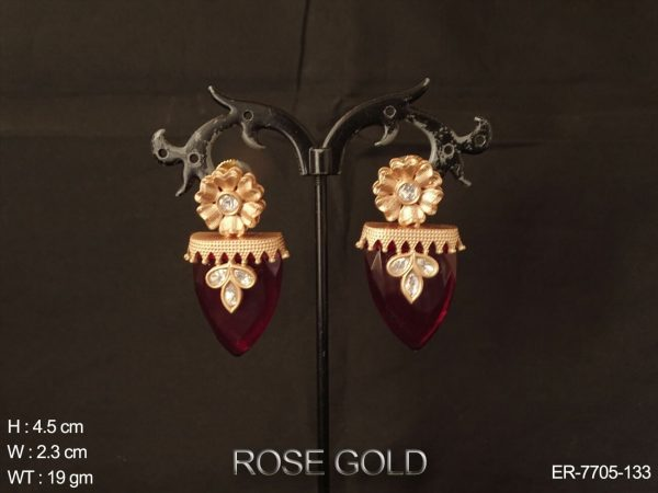 Rose polish flower Fusion Earring