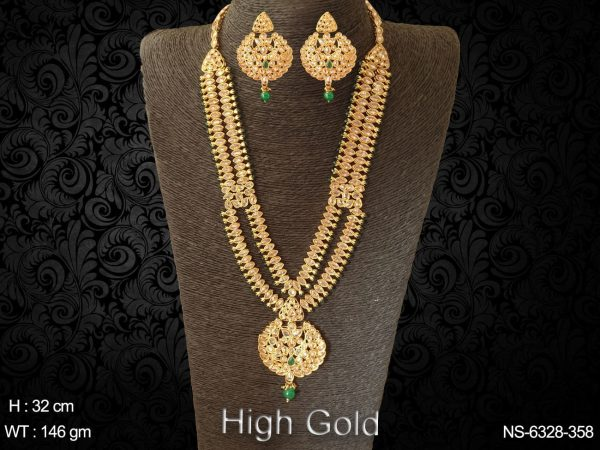 Gold Plated Indian Jewellery Set-Bridal Bollywood Polki Necklace set