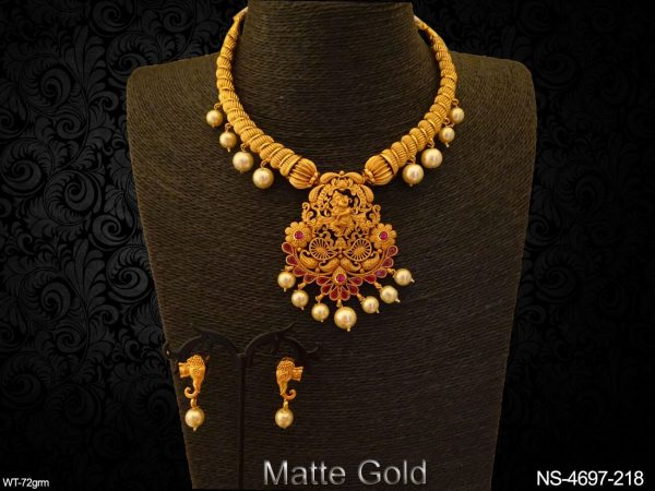 Dancing Ganesh Ji Temple Necklace Set