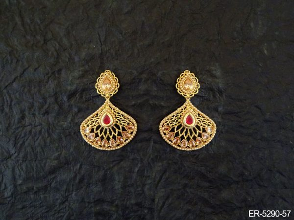 Paan shaped Triangular Earrings